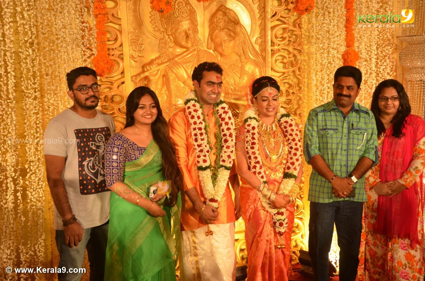 Celebrities At Malayalam Actress Radhika Wedding Reception Photos