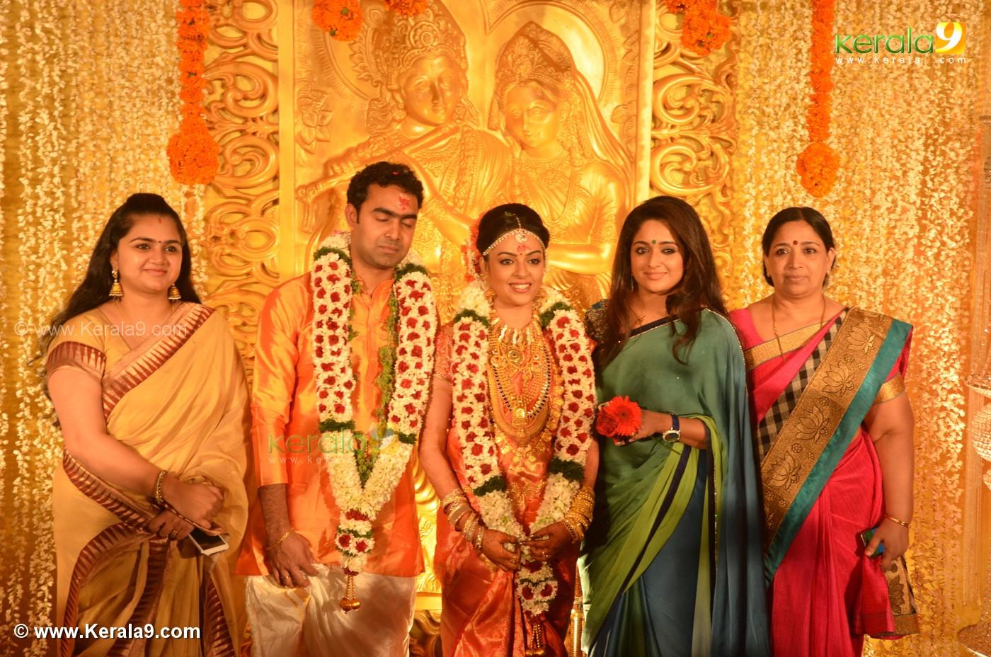 Kavya Madhavan At Malayalam Actress Radhika Wedding Reception Photos